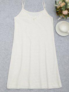 Cami Keyhole Striped Sleep Dress - White M