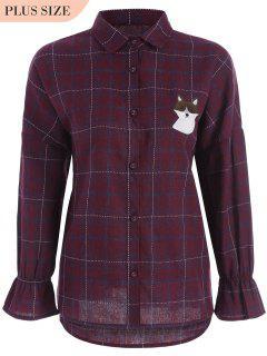 Chemise à Carreaux Taille Grande Chouchée - Rouge Xl