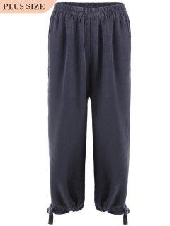Bow Tie Plus Size Harem Pants - Smashing Xl
