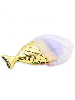 MIni Mermaid Tail Design Makeup Brush With Cover - Golden