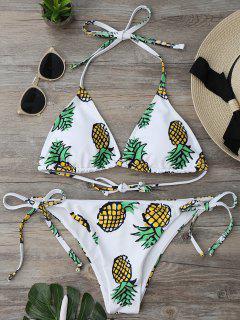 Ensemble Bikini Imprimé Ananas à Corde - Blanc L