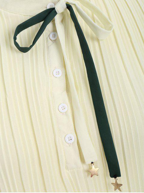 Robe à volants - Jaunâtre XL Mobile