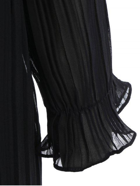 Robe à volants - Noir XL Mobile