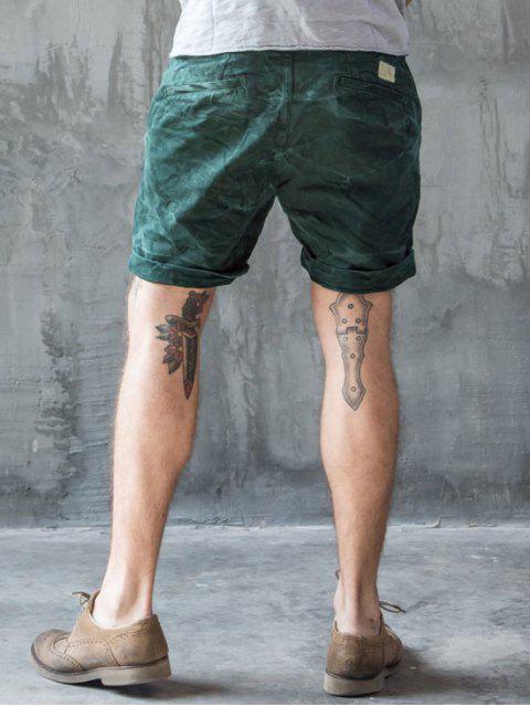 Pantalons Denim Bermuda Hommes - Bleu Vert 31 Mobile
