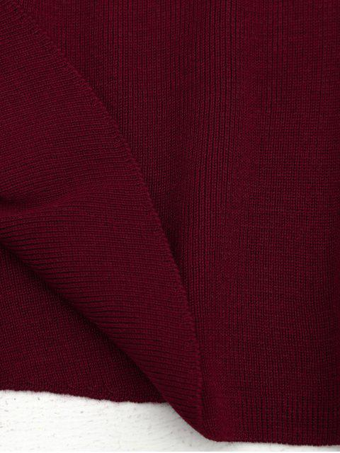 Robe Évasée à Bretelles Métaliques avec Bague Décorative Tressé - Rouge vineux  TAILLE MOYENNE Mobile