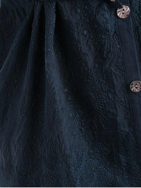 Blouson boutonnière de taille supérieure en mousse boutonnée - Bleu Cadette 4XL Mobile