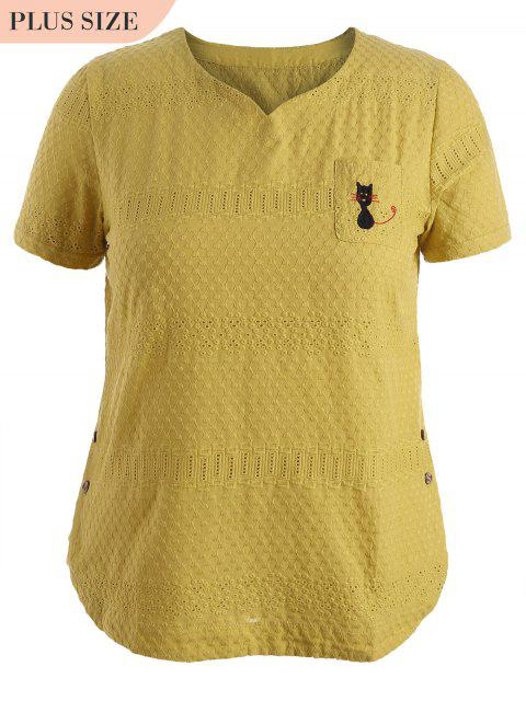 Side Buttoned Sheer Plus Size - Amarillo 2XL Mobile