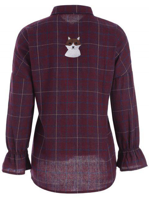 Chemise à carreaux taille grande chouchée - Rouge XL Mobile