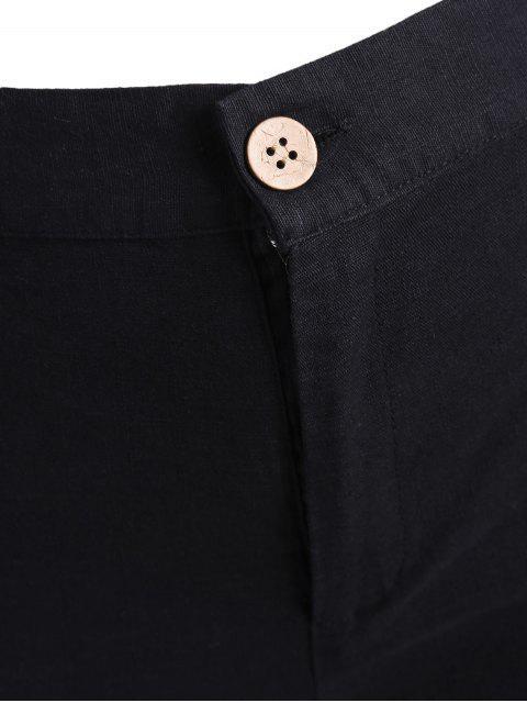 Shorts brodés haute taille taille haute - Noir 3XL Mobile