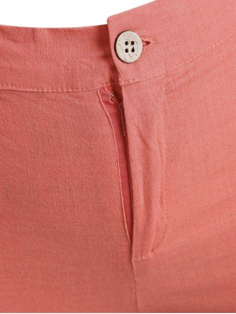 Shorts brodés haute taille taille haute - Orange Rose 2XL Mobile