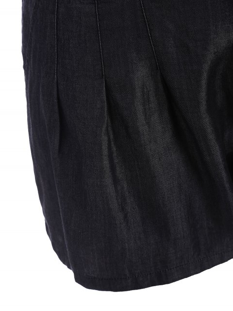 online High Waisted Casual Plus Size Shorts - BLACK 2XL Mobile