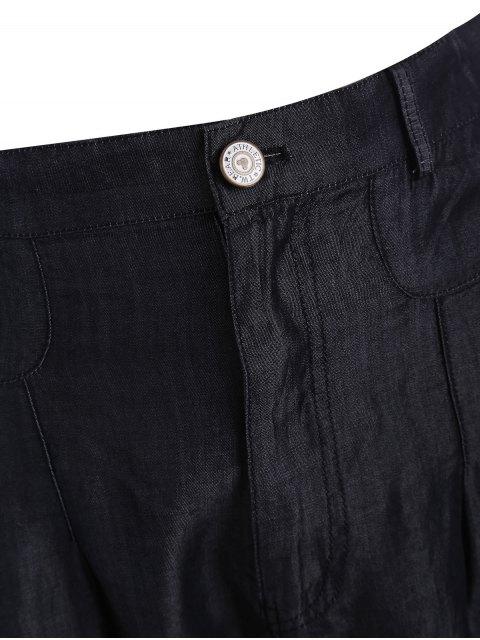 Short taille haute taille décontractée - Noir 3XL Mobile