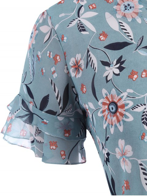 Top Ruffles Floral Taille - Floral 4XL Mobile