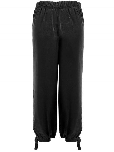 ladies Bow Tie Plus Size Harem Pants - BLACK 2XL Mobile