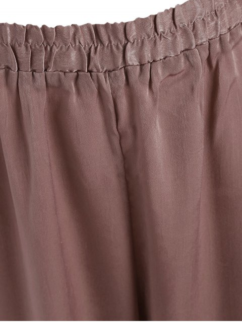 outfits Bow Tie Plus Size Harem Pants - RUSSET-RED 2XL Mobile