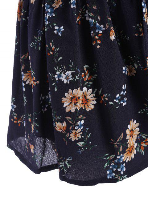 Taille élastique Taille Plus Mince Shorts floraux - Floral 4XL Mobile