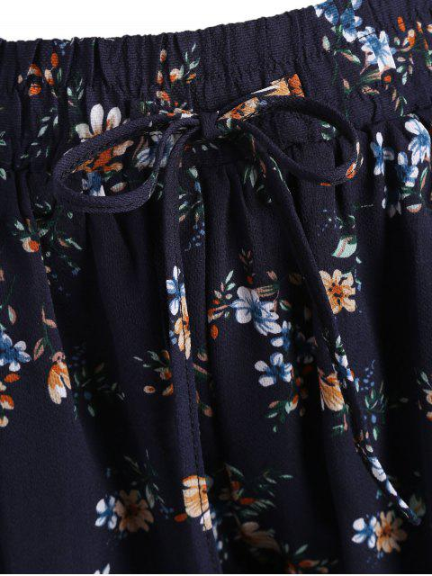 Taille élastique Taille Plus Mince Shorts floraux - Floral 2XL Mobile