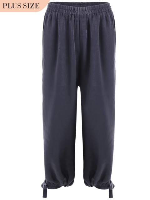 Bowie taille plus Harem pantalons - Gris Violet XL Mobile