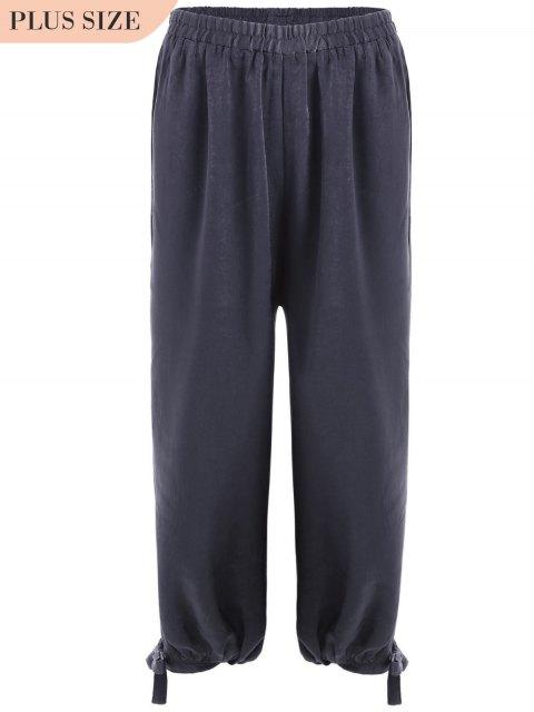 fancy Bow Tie Plus Size Harem Pants - SMASHING XL Mobile