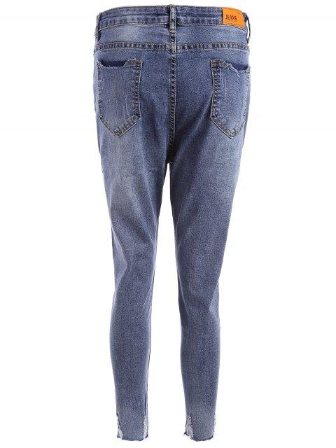 Jeans taille coupés taille plus - Bleu 3XL Mobile