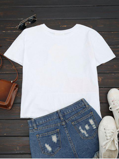 Haut de coton rabattable - Blanc L Mobile