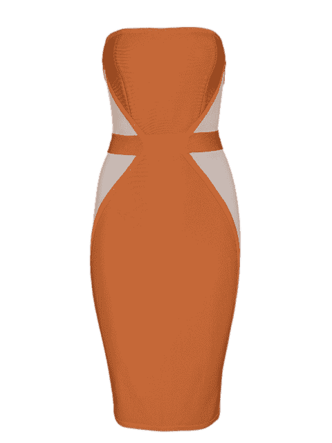 Robe pliante à carreaux - Orange L Mobile