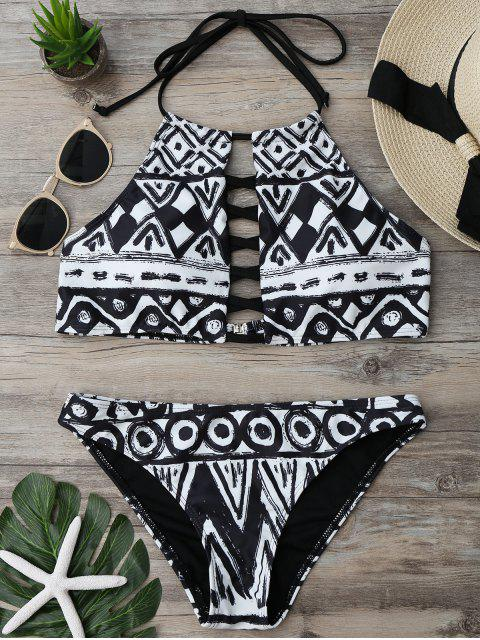 shop Criss Cross Halter Cropped Bikini Set - COLORMIX M Mobile