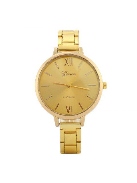 online Alloy Strap Roman Numerals Watch - GOLDEN  Mobile