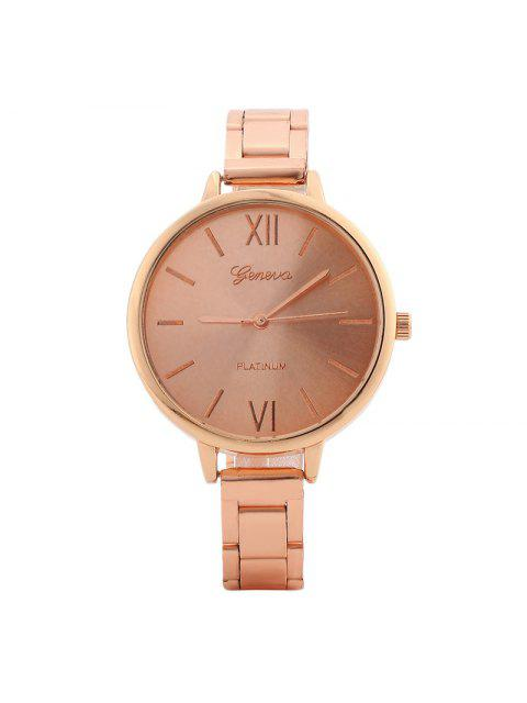 hot Alloy Strap Roman Numerals Watch - ROSE GOLD  Mobile