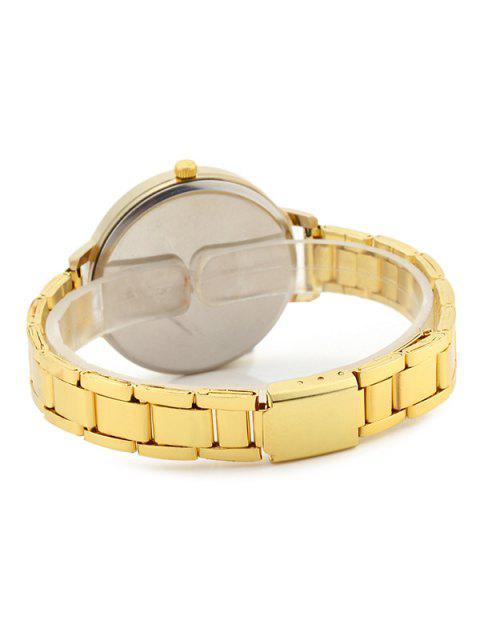 outfit Number Alloy Strap Quartz Watch - GOLDEN  Mobile