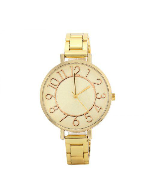 outfit Number Alloy Strap Quartz Watch - GOLDEN  Mobile