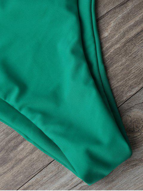 trendy High Cut Pineapple Print Bikini Set - GREEN S Mobile