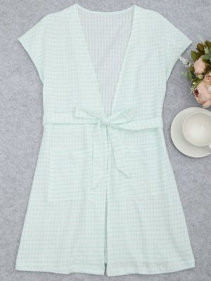 Cinturón con rayas Kimono Loungewear