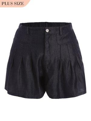 Pantalones Cortos De Talla Alta - Negro 5xl