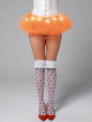Tier Mesh Light Up Ballet Cosplay Skirt - Orange