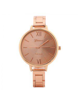 Alloy Strap Roman Numerals Watch - Rose Gold