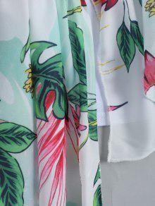 Floral De Impresi De 243;n L Camiseta Volantes Blanco Los La CZdwxx