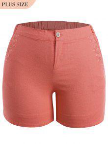 Pantalones Cortos De Talla Grande - Naranja Rosa Xl