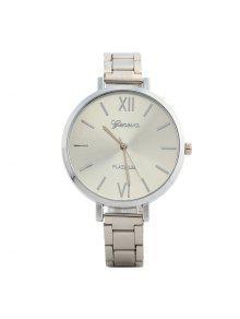 Alloy Strap Roman Numerals Watch - Silver