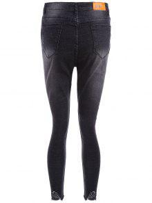 Jeans Cutoffs Size Plus 2xl Ripped Negro qwqxCrzE0n