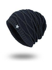 قبعة صوفية مخطط مخملية كتانية محبوك - Cadetblue رقم