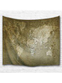 Vintage world map wall hanging tapestry bronze wall art w71 inch vintage world map wall hanging tapestry gumiabroncs Gallery