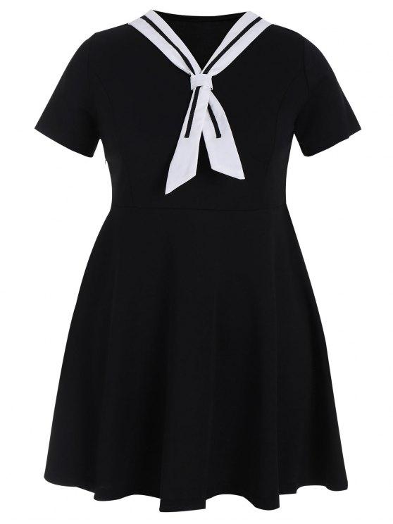 Robe de mariée de patineuse taille grande - Noir 5XL