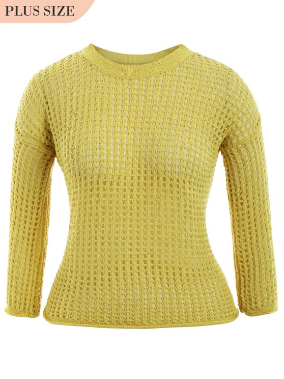 Tricots taille grand taille - Jaune TAILLE MOYENNE