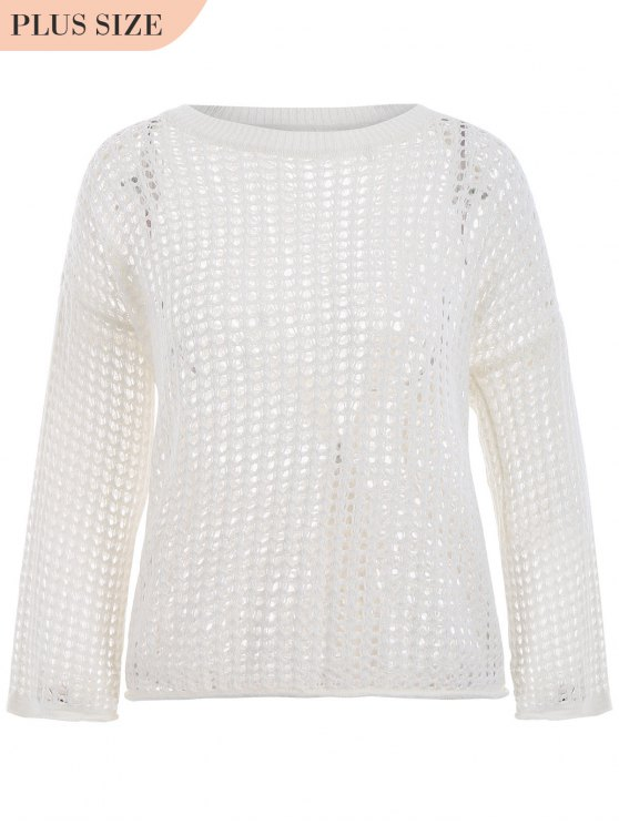 Tricots taille grand taille - Blanc TAILLE MOYENNE