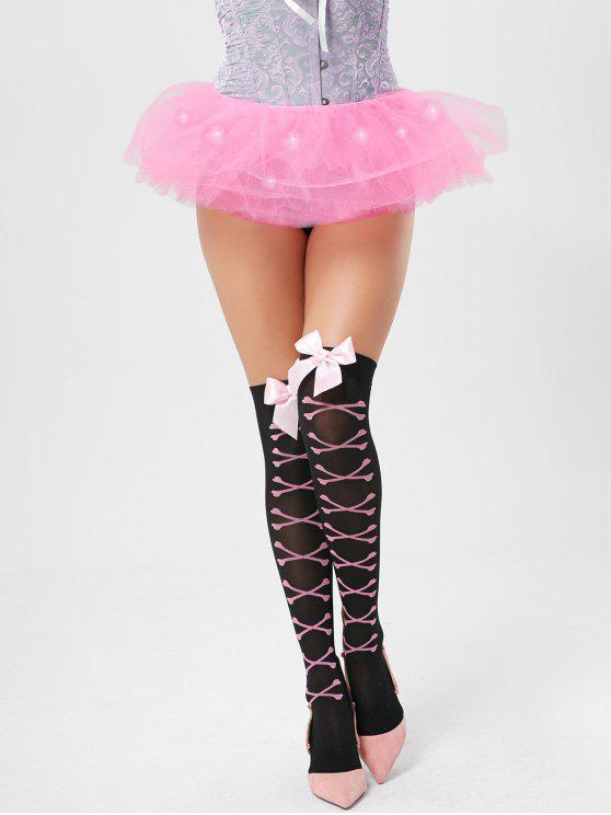 Tier Mesh Light Up Ballet Cosplay Falda - Rosa Luz Única Talla