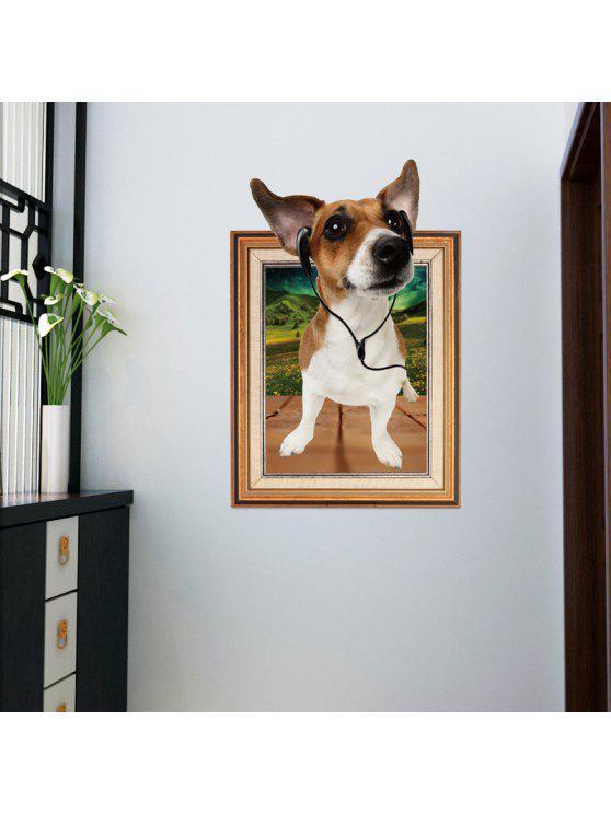 3d الكلب إطار الصورة الجدار ملصق للأطفال غرفة - BROWN 60 * 90CM