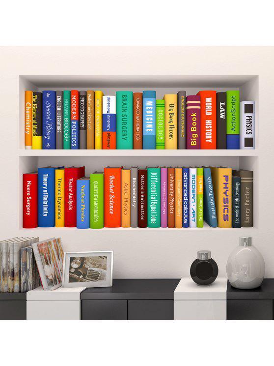 3d ستيريو رف الكتب الفينيل الجدار ملصق - Colormix 60*90CN*2PCS