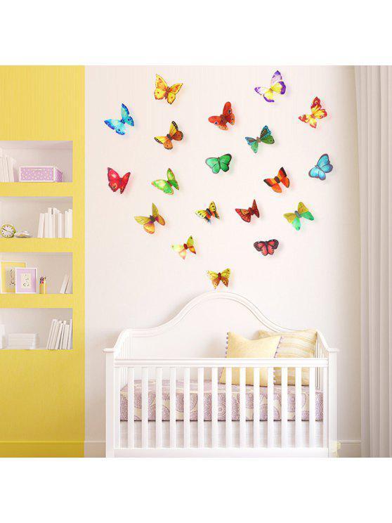 3d فراشة دي ديكور المنزل ملصقات الحائط مجموعة - Colormix نمط A