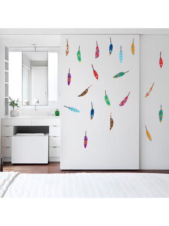 ريشة ملونة الفينيل الجدار ملصق للأطفال - Colormix 30 * 60cm
